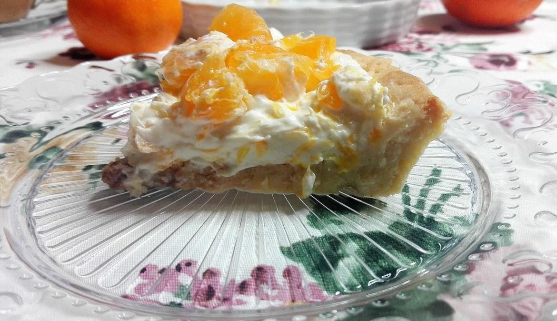 Bezglutenowa Tarta z Mandarynkami i Pomarańczami *z serem kozim fot 1