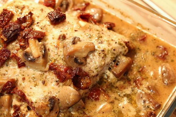 Pieczona szynka wieprzowa wpieczarkowym sosie 3