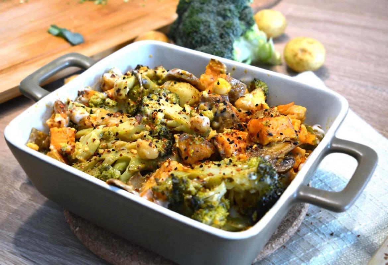 Pieczone warzywa w kremowym sosie fot 1, Justyna Lenda dietetyk kliniczny, poradnia dietetyczna Just Foos Therapy